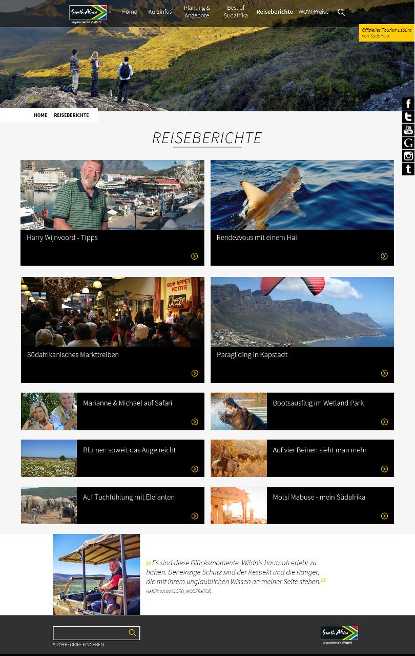 Harry Wijnvoord – Reiseberichte