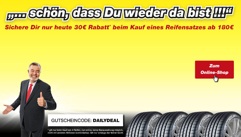 "Harry Wijnvoord – Quick Reifendiscount – ""DAILYDEAL"""