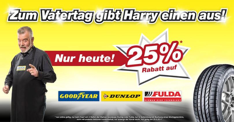 """Harry Wijnvoord – Quick Reifendiscount – """"Vatertag"""""""