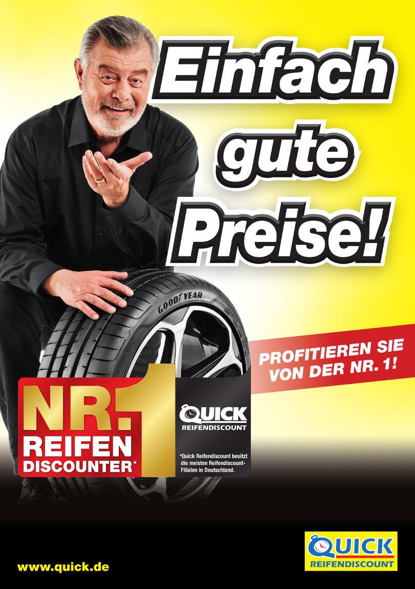 """Harry Wijnvoord – Quick Reifendiscount – """"NR.1 REIFENDISCOUNTER"""""""