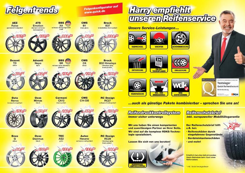 """Harry Wijnvoord - Quick Reifendiscount – """"Reifenservice"""""""