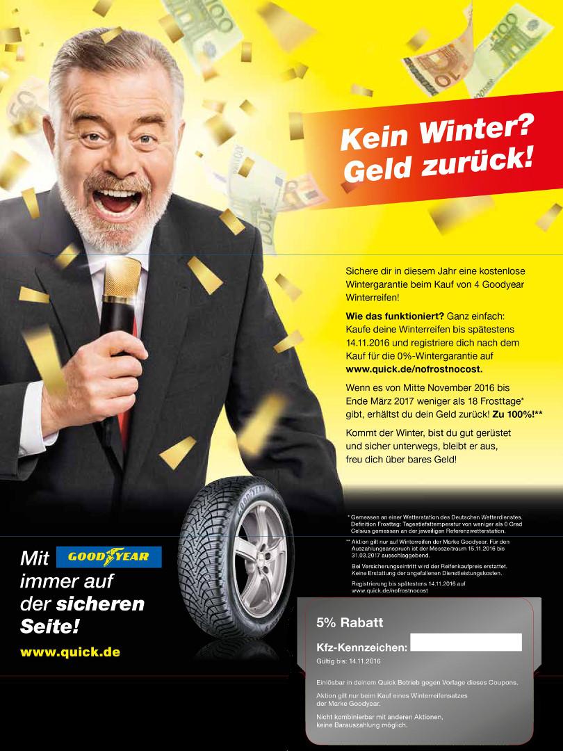 """Harry Wijnvoord – Quick Reifendiscount – """"No Frost – No Cost!"""" – Mailing Multichannel 2"""