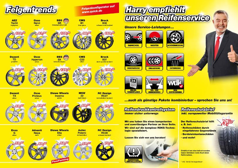 """Harry Wijnvoord – Quick Reifendiscount – """"Felgentrends & Reifenservice"""""""