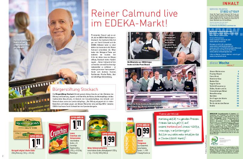 """Reiner Calmund - EDEKA – Wochenblatt """"Calli kommt!"""""""