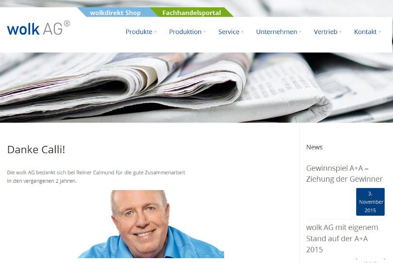 """Reiner Calmund - WOLK DIREKT """"Danke Calli"""""""