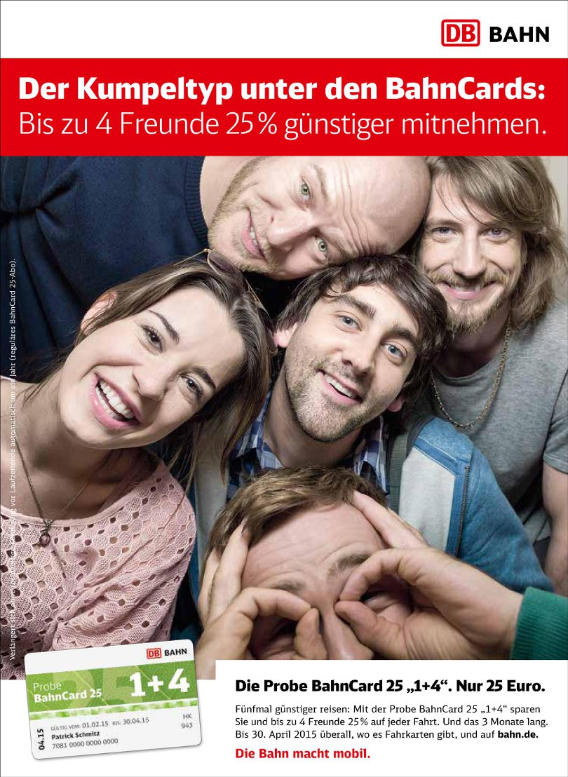 """Sarah Bogen - Bahncard """"Printkampagne"""""""